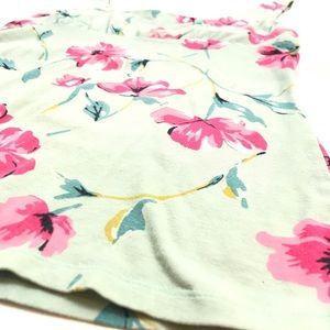 Express Tops - Express Green Pink White Floral Tank Sz. Small